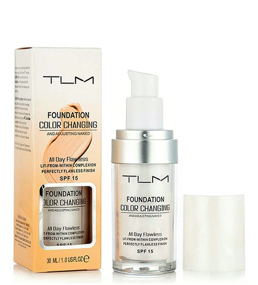 TLM COLOUR CHANGING FOUNDATION SPF 15 -30ml